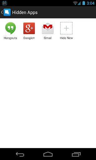 Masquer licône de lapplication App-Cacher