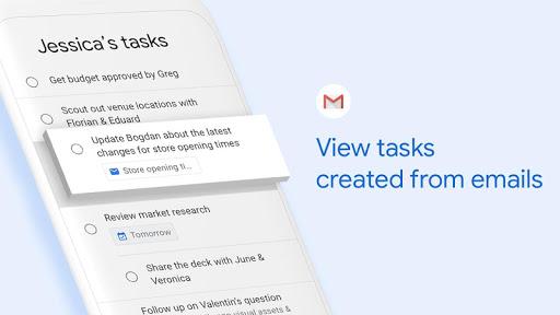 Tâches Google: toute tâche, tout objectif. Faire avancer les choses
