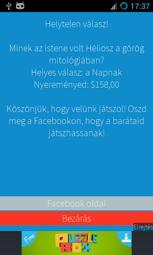 Devenez millionnaire! hongrois